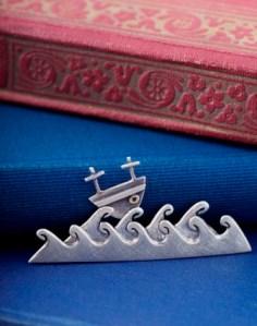 boat brooch