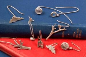 Silver drop earrings 2